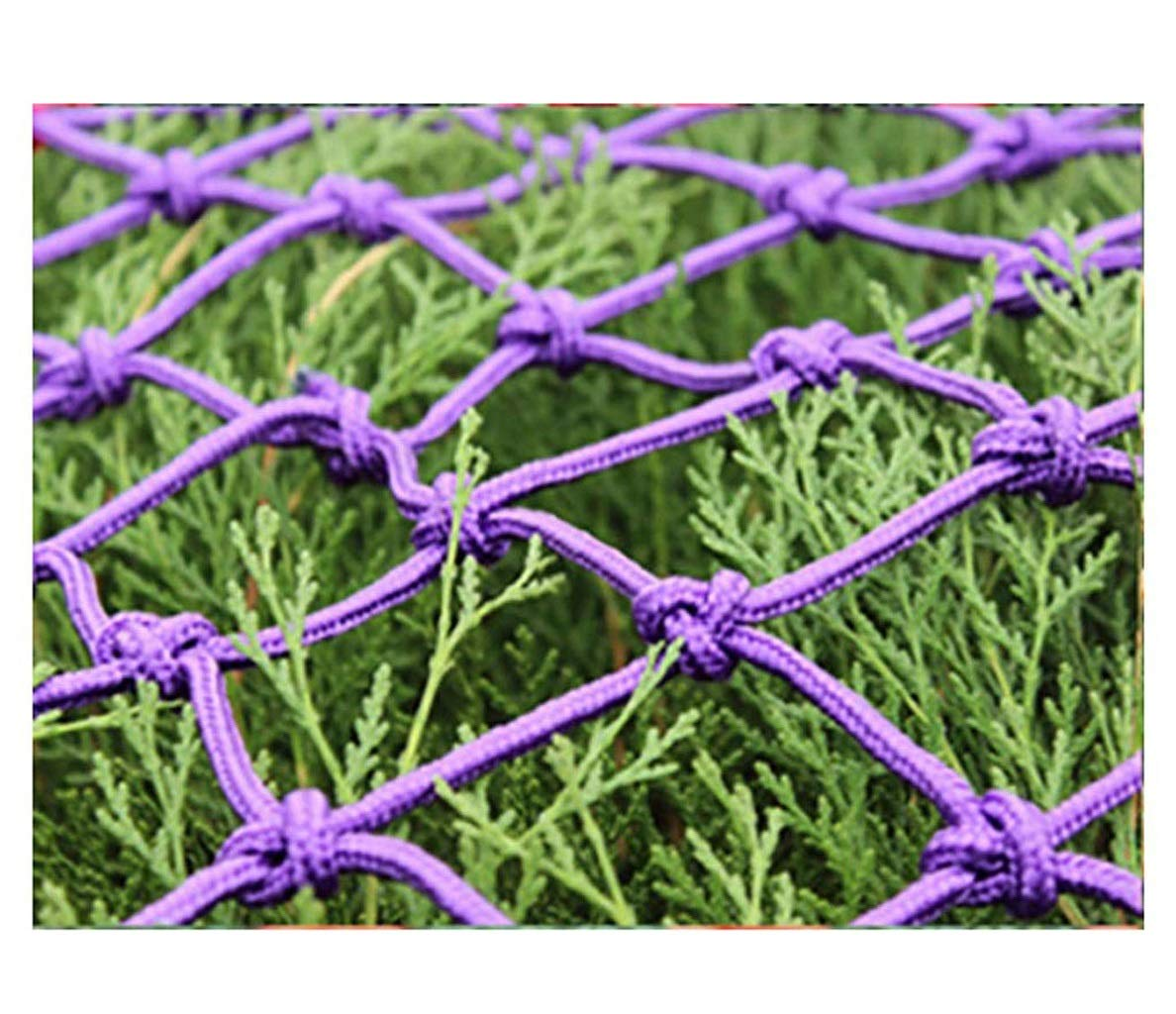Baby Safety Outdoor Railing Net Stair Window Balcony Fence Child Protection Net Safety Net Decoration Anti-drop Shatter-resistant Net Nylon Rope Net Garden Lawn Purple Rope Thickness 10mm//mesh Hole 8c