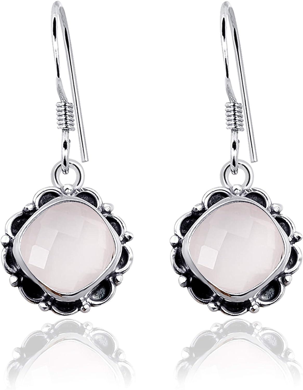 """925 Solid Silver CUTE LAPIS LAZULI Dangle Earrings 1.1/"""" Women/'s Jewellery"""
