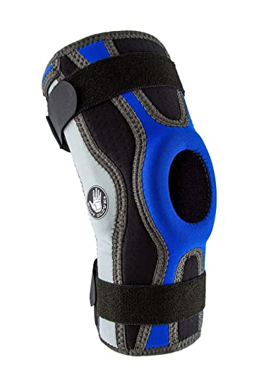 189f7ef39f Body Glove Sport Wrap Knee Brace - Injury Prevention Removable Bilateral  Hinges - Knee Wrap Supports