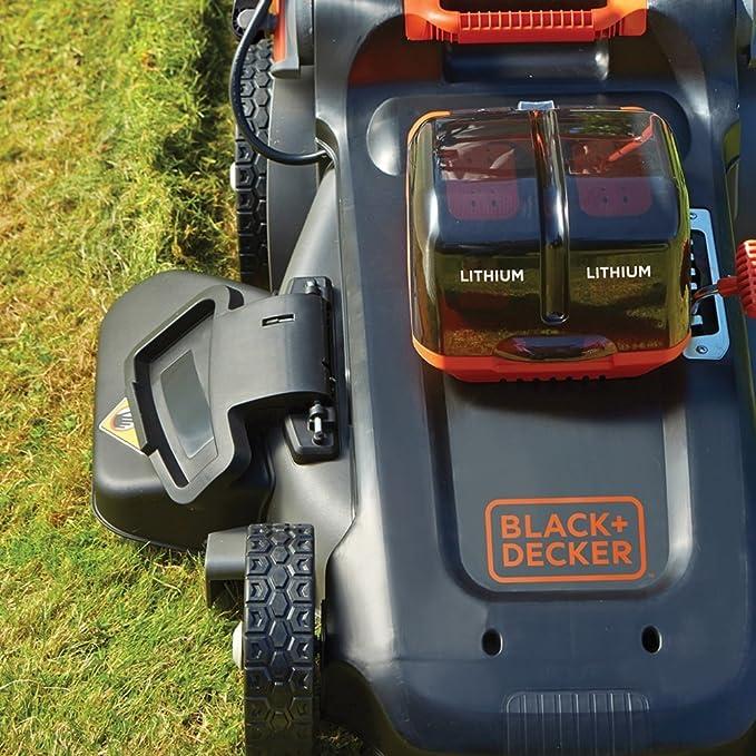 Black+Decker CLM5448PCB-XJ CLM5448PCB-XJ-Cortacésped Dual Volt (autosense, 48 cm, sin batería), 54 V