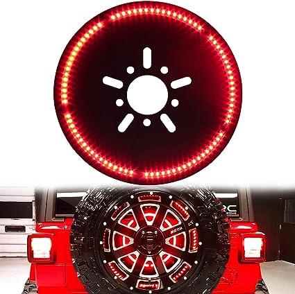 SUNPIE Jeep JL Third ke Light Spare Tire LED Ring Designed for 2018 on