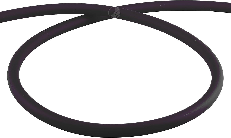 Amy Deluxe Manguera de silicona shisha Mate–Negro, 150cm