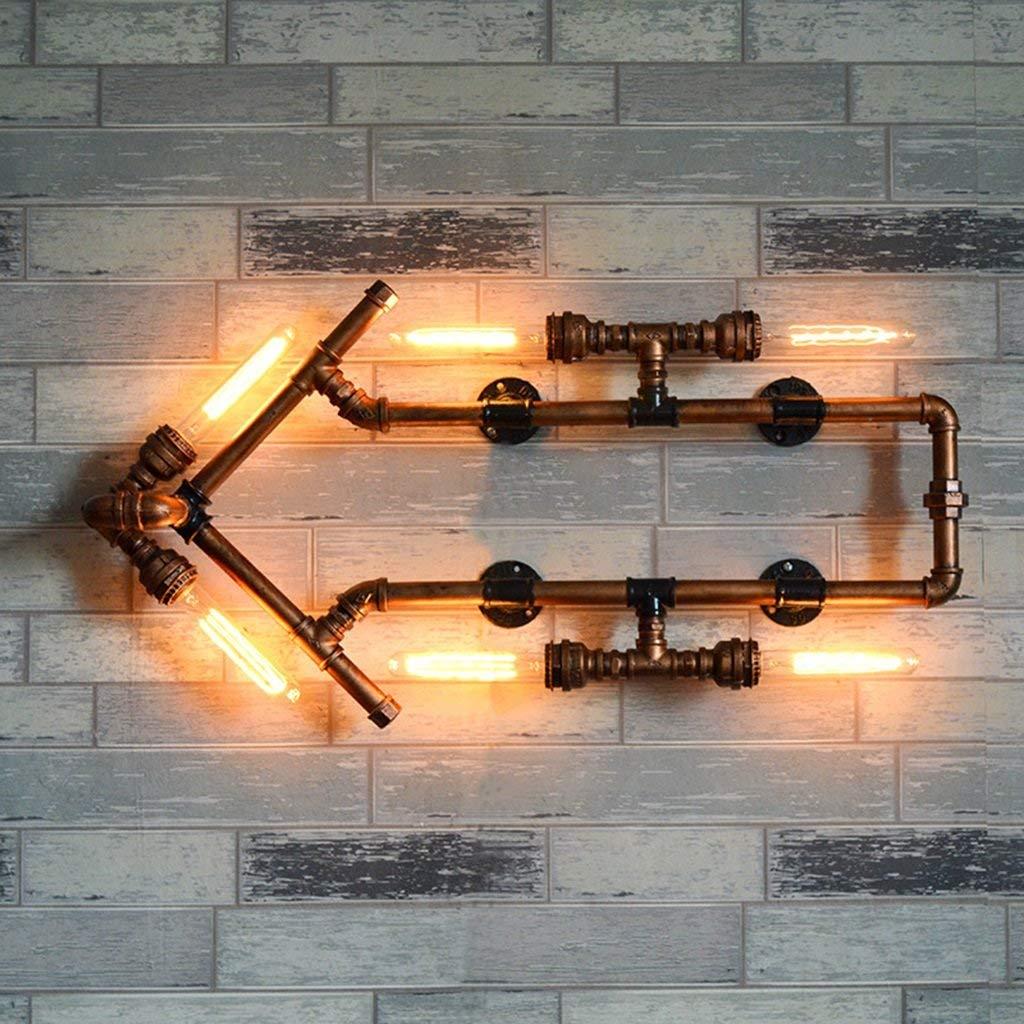 Lampada Da Parete In Ferro Tubi Acqua Lampada Da Parete A Luogo Di Intrattenimento Parete Spia Luci Di Corridoio Freccia Lampada Da Parete Nuovo (colore   A)