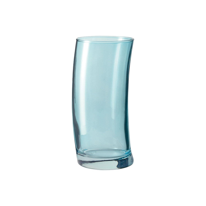 Set of 6 Leonardo Swing Long 12 ounce Curved Tumbler Glasses Verde