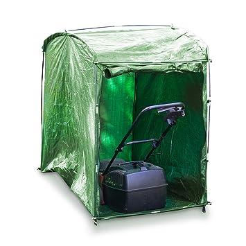 Relaxdays 10019001 - Relaxdays 10019001 - Garaje para cortadora de césped color Verde