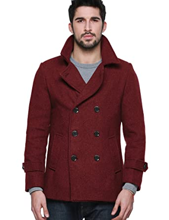 Match Mens Wool Classic Pea Coat Winter Coat at Amazon Men&39s