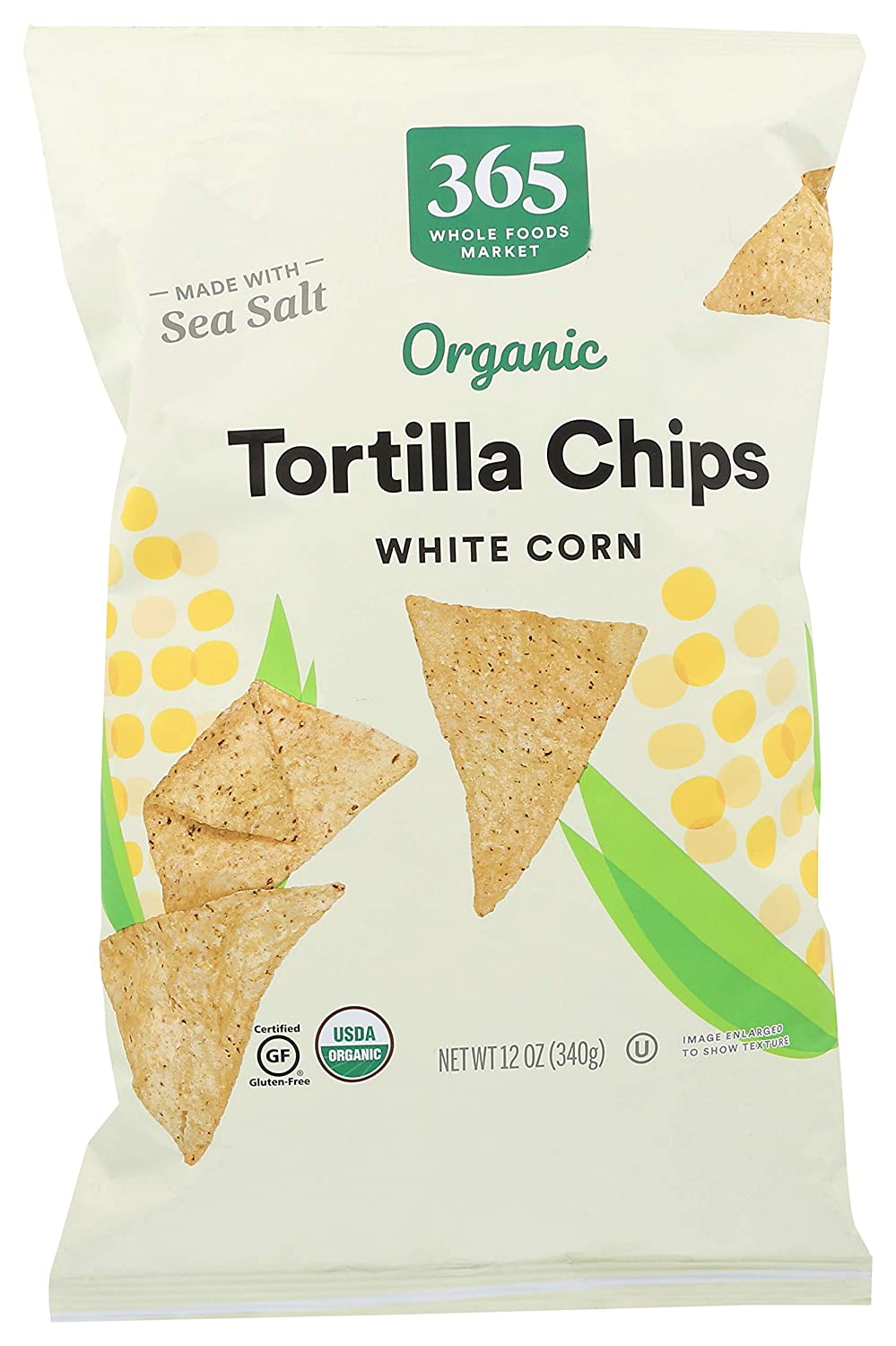 365 by Whole Foods Market, Organic Tortilla Chips, White Corn, 12 Ounce
