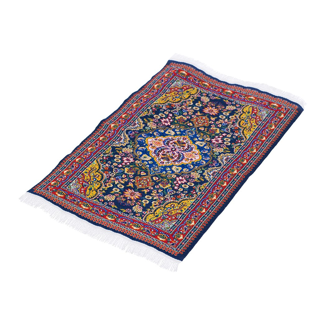 12th Scale Dolls House Miniature Rug Turkish Style Woven Floral Floor Cover Carpet Furniture Accessory 25cm x 15cm C# Generic STK0157000897