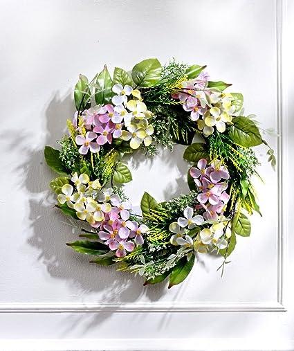 Nobranded 32 cm in plastica a Parete Ghirlanda Porta Finestra Appeso Fiore Foglia Verde Corona Artificiale Decorazione della Festa Nuziale a casa