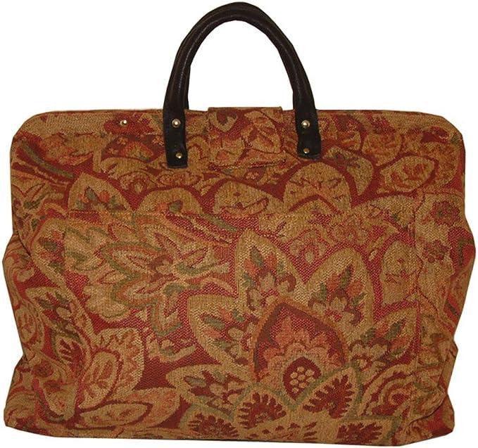 FlyingNeedleGallerys Magellans Map Carpet Bag Carry On