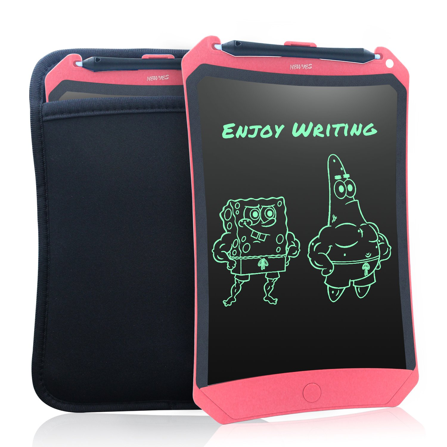WOBEECO 8.5 inch LCD Writing Tablet Robot Pad Pink with Case