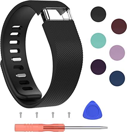 Silicone Band Bracelet Wrist Strap For Fitbit Charge HR with Tool Replacement HY
