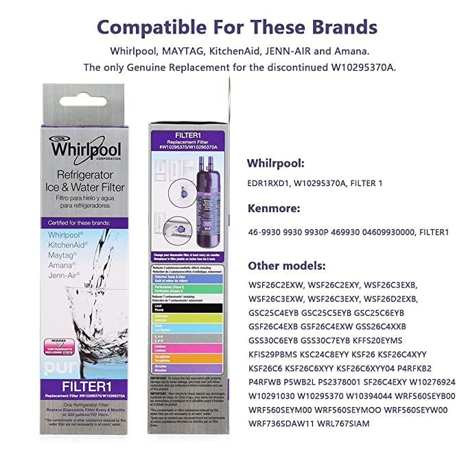 Whirlpool filtro 1/W10295370/w10295370 a/Kenmore 46 - 9930 2-Pack ...
