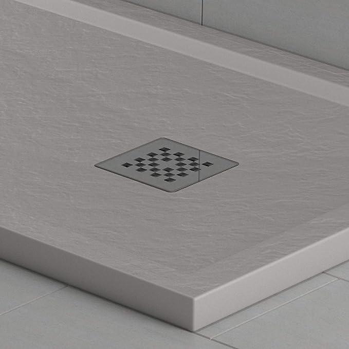 Essence - Plato de Ducha de Mineral mármol, Efecto Piedra, Cuarzo ...