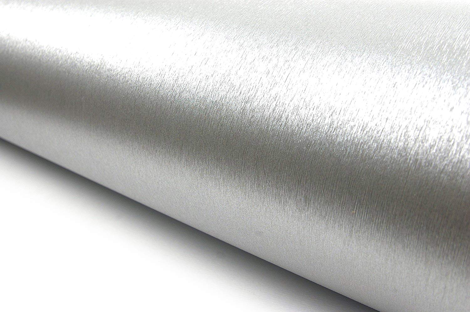 Very Berry Sticker Brushed Metal Texture Interior Film Vinyl Self Adhesive Peel-Stick Removable (Silver)