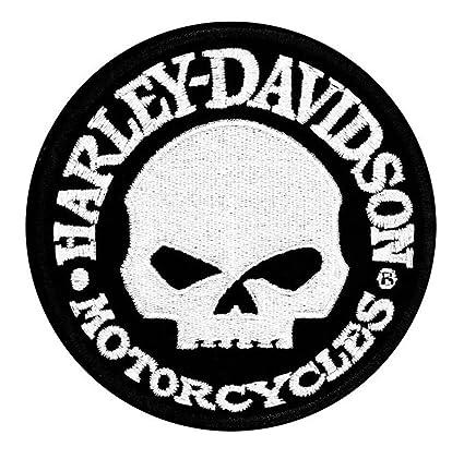 amazon com harley davidson hubcap skull small patch 4 w x 4 h rh amazon com harley davidson skull logo coffee thermos mug harley davidson skull logo wallpaper