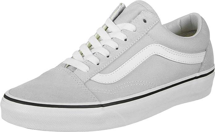 Vans Old Skool Sneaker Damen Herren Kinder Unisex grau mit weißen Streifen