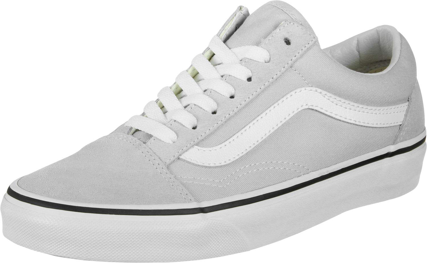 43610cb66b74 Galleon - Vans Old Skool Gray Dawn True White (7 M US Women   5.5 M US Men