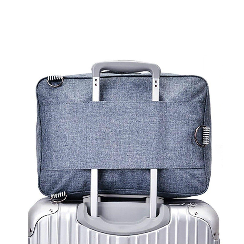 Cuuker Travel Duffel Bag Backpack Lightweight Waterproof Large Capacity Portable Luggage Bag (Blue)