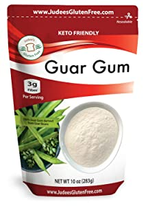 Judee's Guar Gum Powder Gluten Free 10 oz (24 Oz Also) - USA Packaged & Filled - Great for Low-Carb, Food Safe Thickening Agent, Keto, & Ice Cream Recipes - Dedicated Gluten & Nut Free Facility