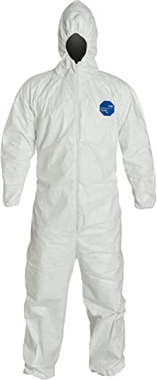 Pack of 6 Dupont TY122S White Tyvek Coverall Bunny Suit Hood /& Boots XL-3XL