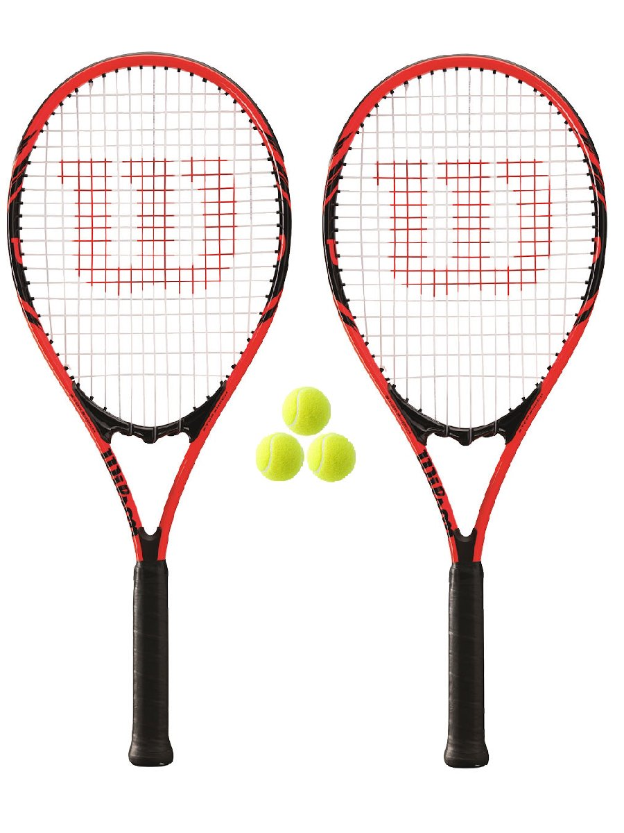 Wilson Federer 110 Lot de 3 2 Federer raquettes Lot de tennis et 3 balles RRP B001TE416K, こだわり雛の里 甲冑の三京:f473a5a3 --- cgt-tbc.fr
