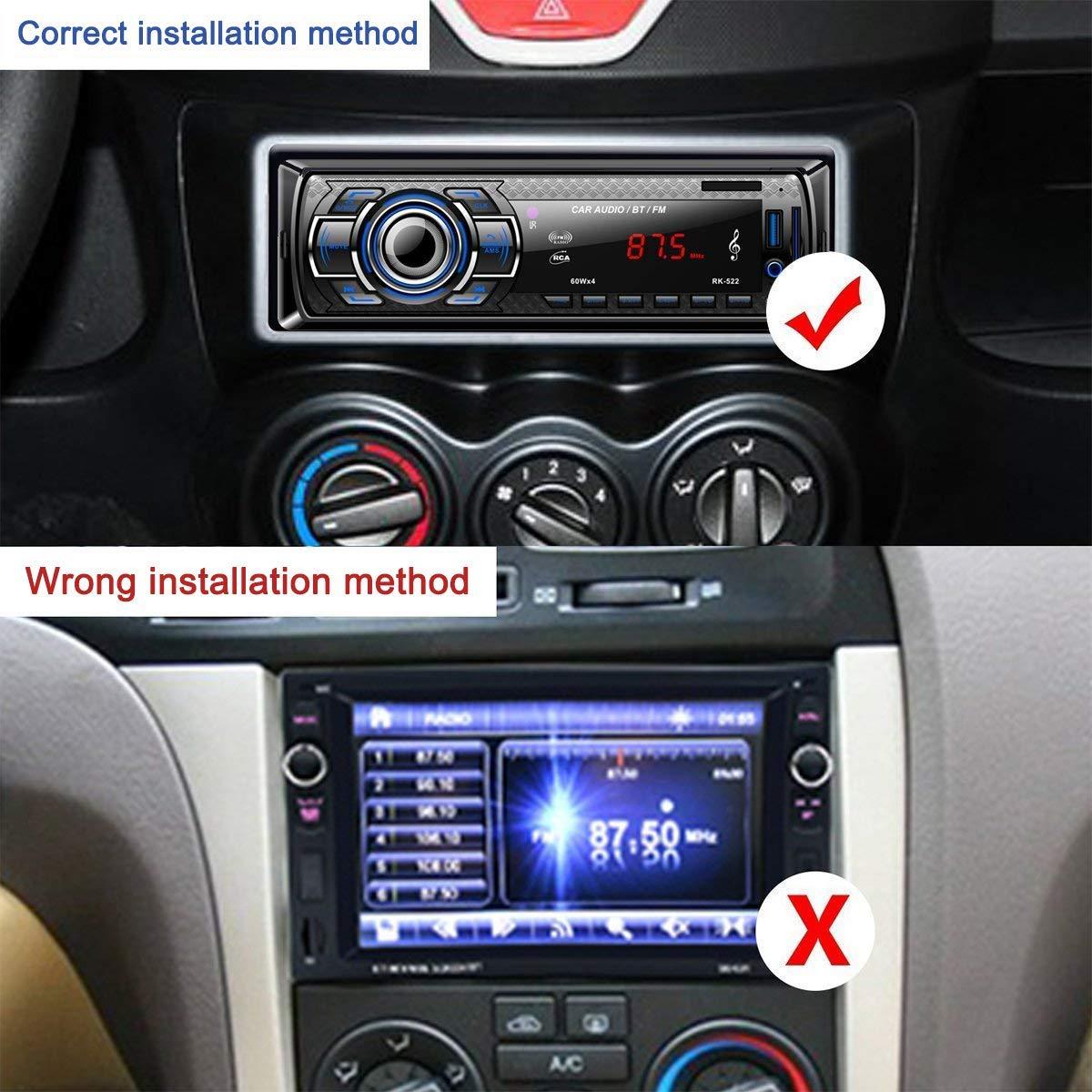 Kdely Autoradio Bluetooth Manos Libres 4×60W Radio FM Estéreo de Coche, Apoyo de Reproductor MP3, Llamadas Manos Libres AUX/SD/USB/EQ / MP3 /TF + Control ...