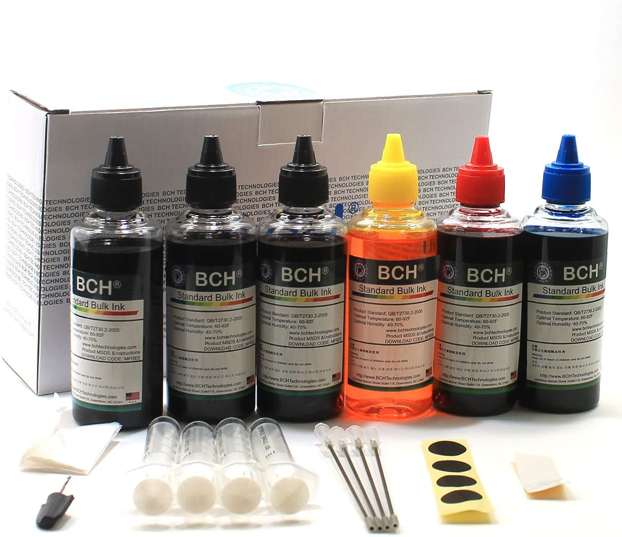 BCH Standard 600 ml Refill Ink Kit for Inkjet Cartridges - Especially for Printer Name Starts with H