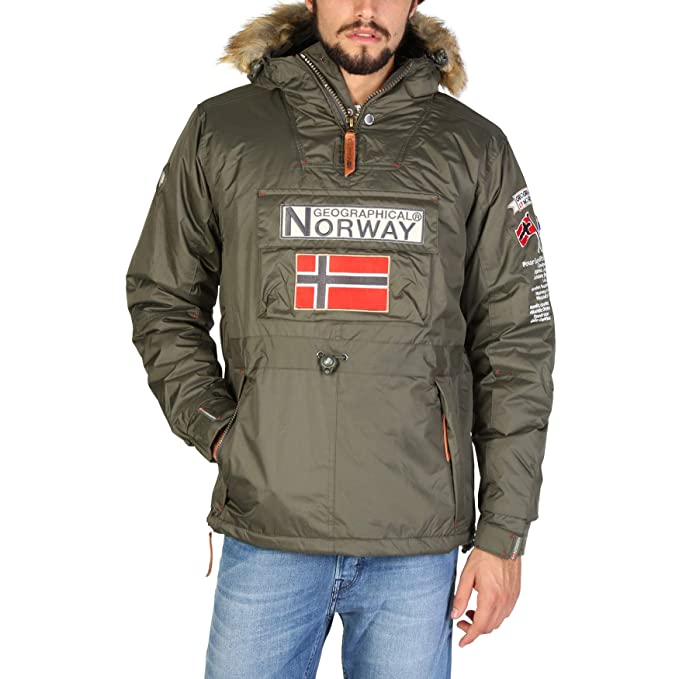 Geographical Norway Chaqueta Boomerang_Man Hombre Color: Verde Talla: L: Amazon.es: Ropa y accesorios