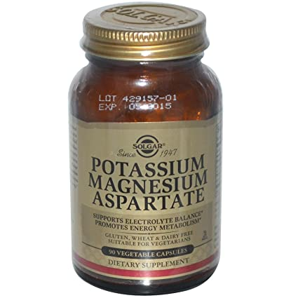 Solgar - Aspartate del magnesio del potasio - 90 cápsulas vegetarianas