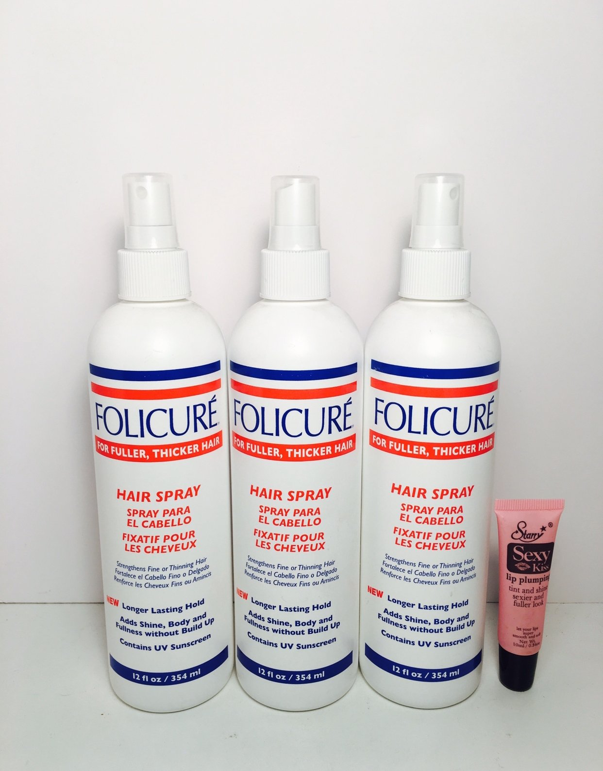 Folicure Hairspray 12 oz. Pump (3-Pack) with Free Nail File