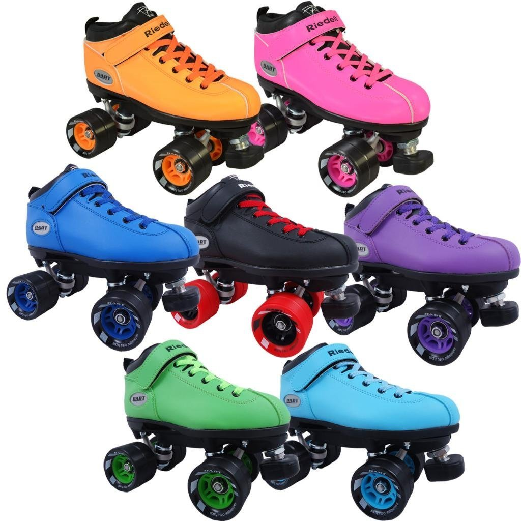 Riedell Dart Quad Roller Derby Speed Skates with Matching Laces by Riedell