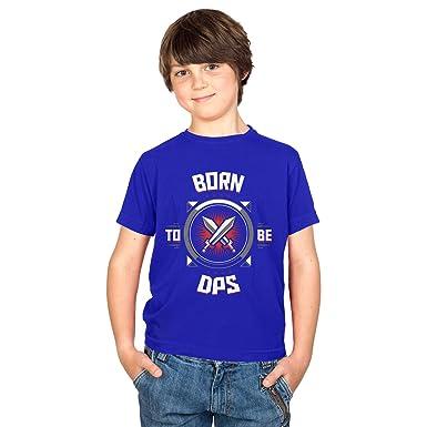 TEXLAB - Born to be DPS - Kinder T-Shirt, Größe XS, marine