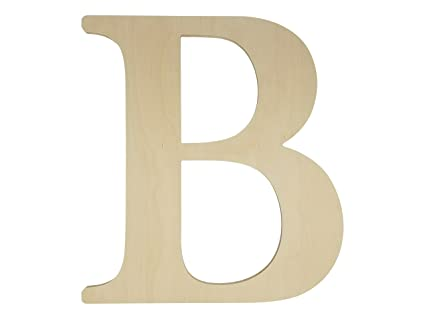 Unfinished Wooden Letter For Wedding Guestbook Or Wall Decor 24 Letter B