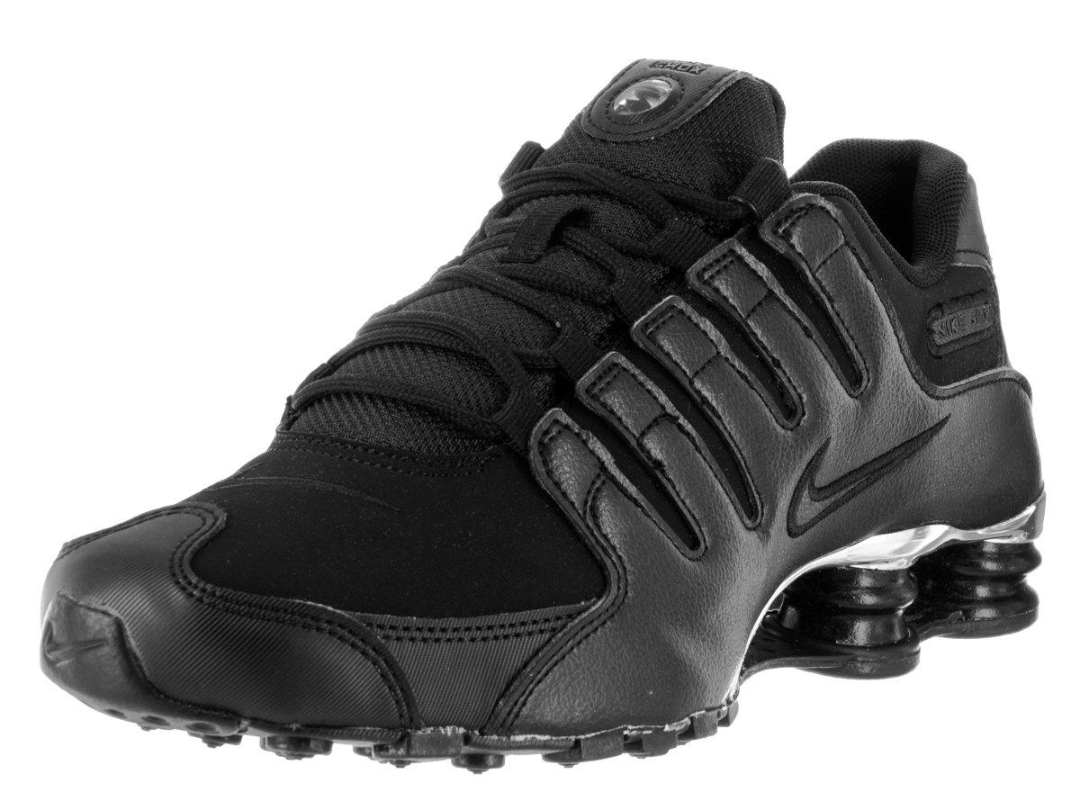 d5921387c8e Galleon - Nike Mens Shox NZ Premium Running Shoes Black Chrome 536184-001