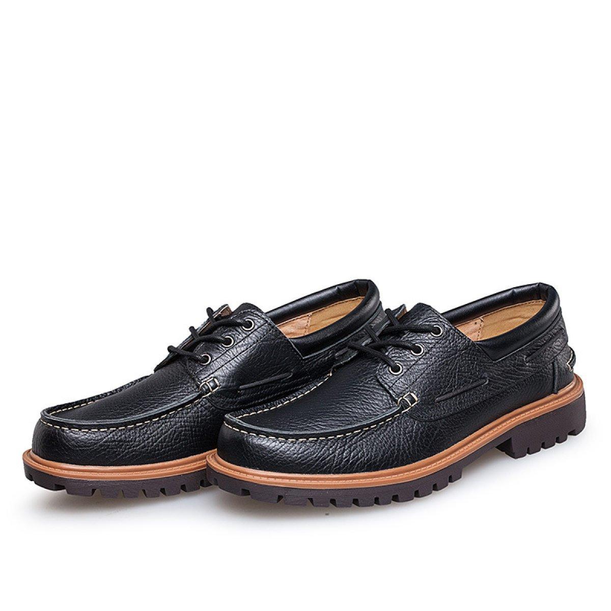 GTYMFH Otoño E Invierno Hombres Hombres Hombres Negocios Zapatos Casuales Redondos Moda áspero Con Los Zapatos De Los Hombres 2c470d