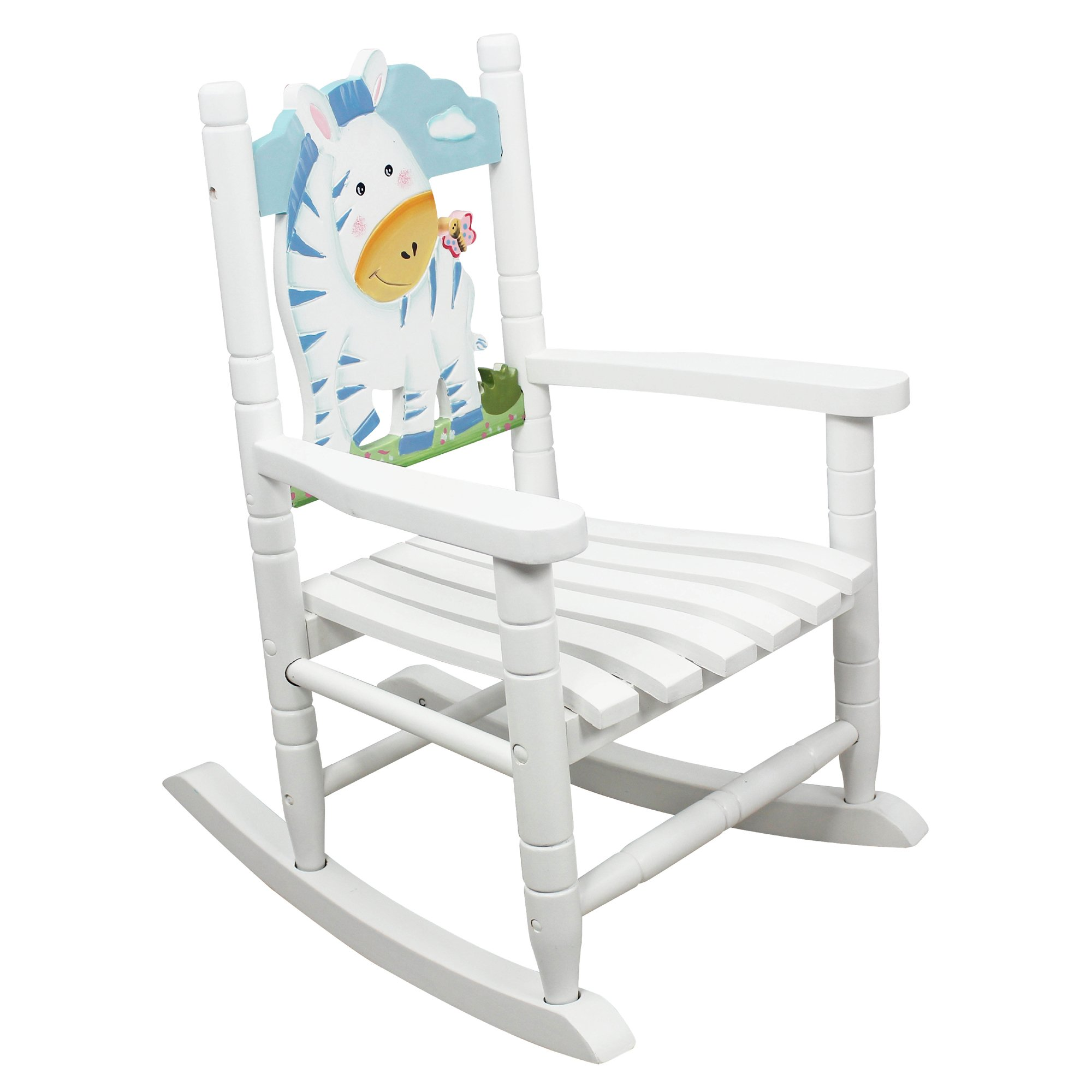 Teamson Kids - Safari Wooden Rocking Chair for Children - Zebra