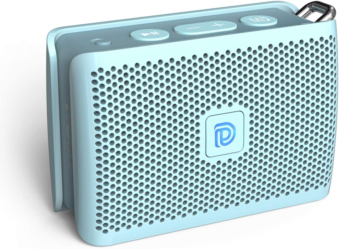 DOSS Genie Portable Bluetooth Speaker with Clean Sound, Built-in Mic, Ultra-Portable Design, Wireless Speaker Compatible for Home, Outdoors, Travel, Gift Ideas- Ice Blue