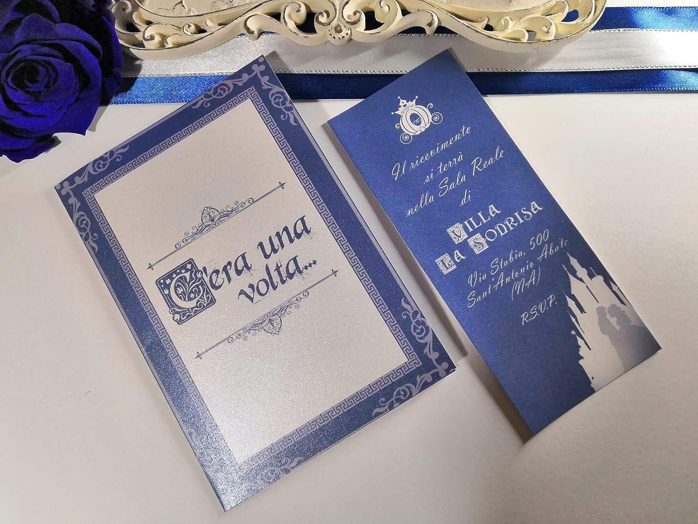 Partecipazioni Matrimonio Disney.Partecipazioni Matrimonio C Era Una Volta Dinsey Wedding