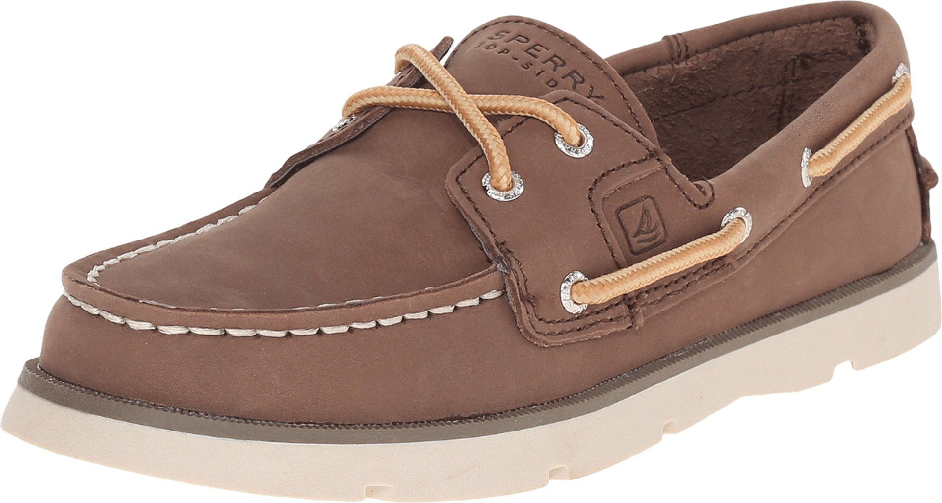 SPERRY Boy's, Leeward Boat Shoe Dark Brown 5 M