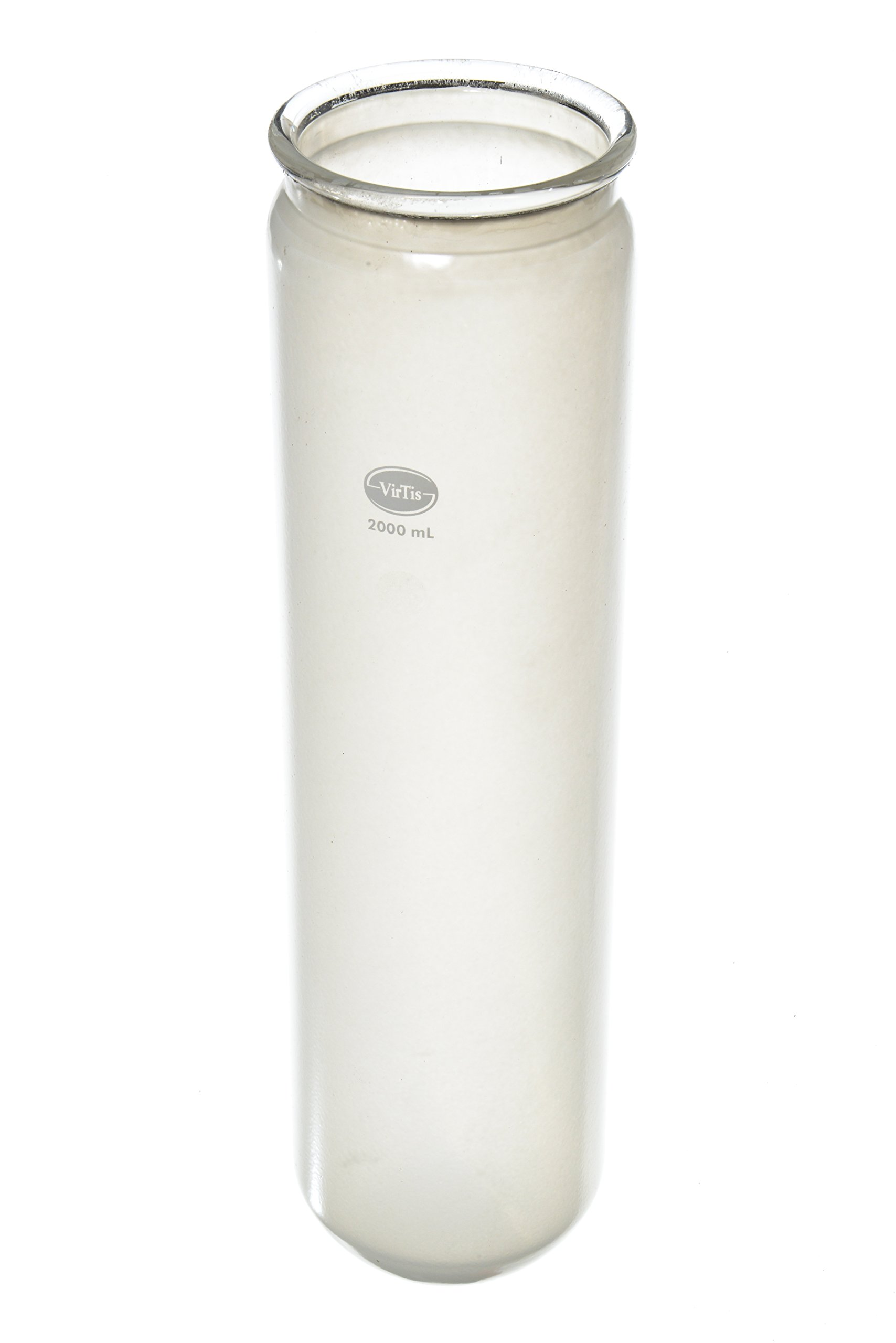 Wilmad LG-13100-512 Freeze Drying Flask, Safety Coated, 2000 Capacity