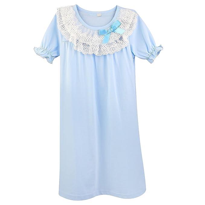 Amazon.com: BOOPH Girls Nightgown, Cotton Little Girls Sleepwear ...