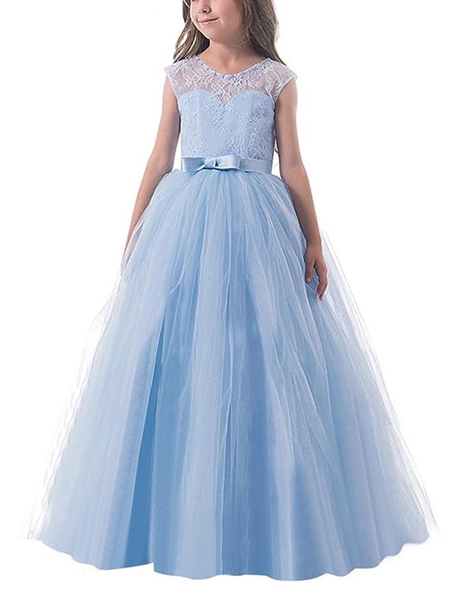 a49b78d0d NNJXD Vestido de Fiesta de Tul de Encaje Falda de Princesa para Niñas   Amazon.es  Ropa y accesorios