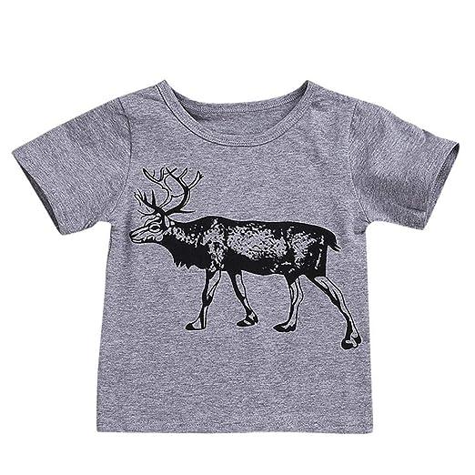 90e7a731635 Hatoys Newborn Baby Girls Boys Giraffe Deer Clothes Jumpsuit Romper 1 Piece  (3T(Height