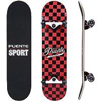 NACATIN Planche à roulettes Skateboard pour Les Enfants, Jeunes et Adultes avec des roulements à Billes ABEC-9, 92A Anti-dérapant Lisse,muet funboard de Roue pour Les débutants