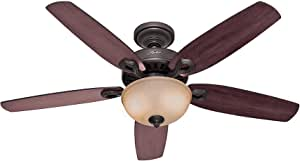 Hunter Fan Company Hunter 53091 Transitional 52'' Ceiling Fan from Builder Deluxe collection Dark finish, New Bronze