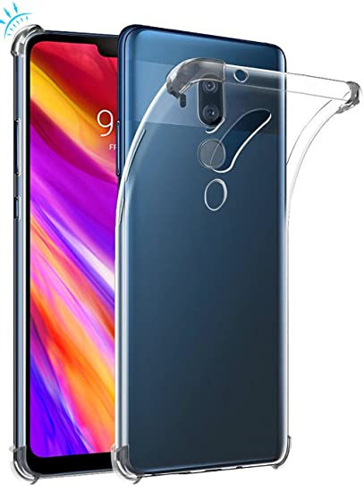 best website 0f132 968ec LG G7 ThinQ case, LG G7 Case, Suensan TPU Shock Absorption Technology  Raised Bezels Protective Case Cover for LG G7 smartphone (TPU Clear)