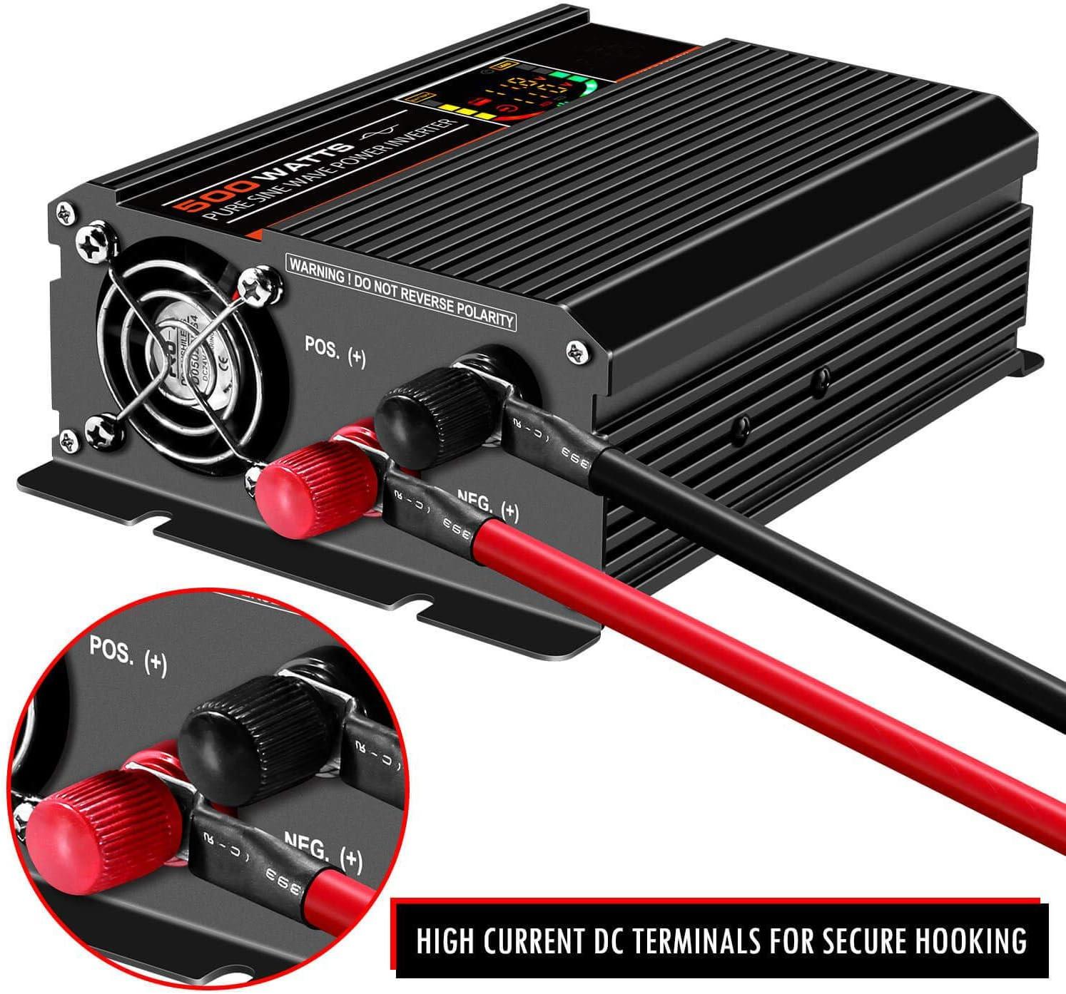 Patio, Lawn & Garden Power Inverters ghdonat.com 12V to 110V Back ...