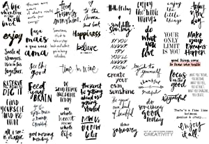 Seasonstorm Black Chat Word Small Talk Bless Saying Decoration Stationery Planner Stickers Scrapbooking Diary Sticky Paper Flakes (PK281)