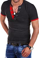 MT Styles V-Neck T-Shirt Buttons BS-524